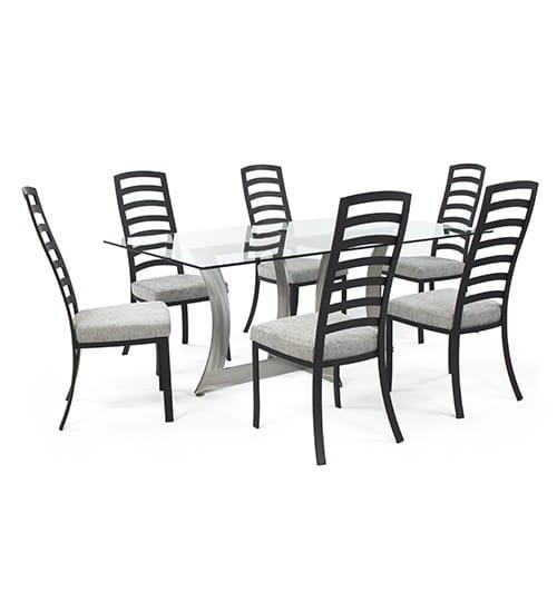 Summit Rectangular Johnston Casuals Dining Set Barstools