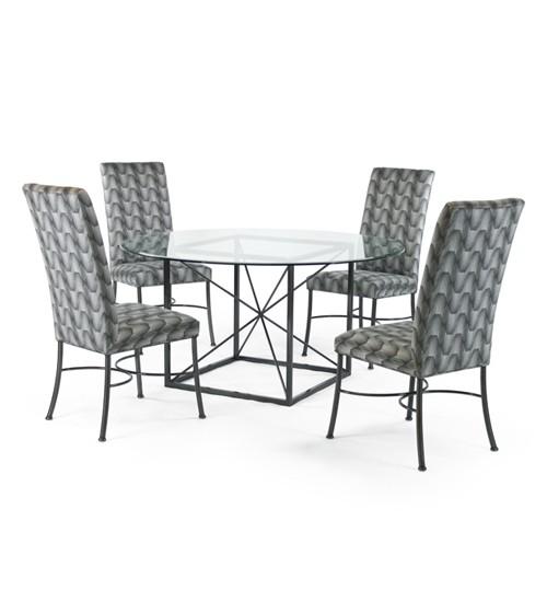 Manganese Round Johnston Casuals Dining Set Barstools