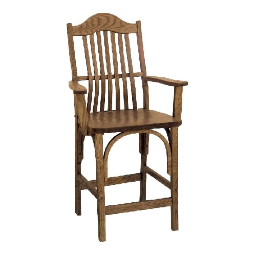 counter height amish formal arm stool