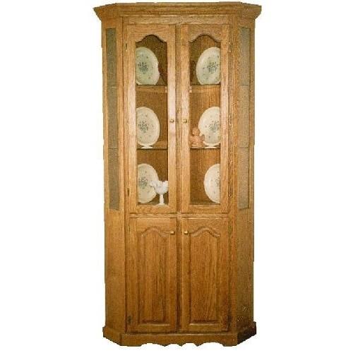 Country Corner Cabinet with Long Door Storage Oak Heritage