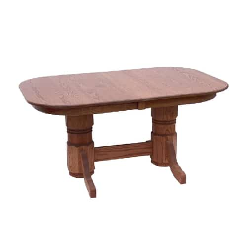 Country Square Oak Heritage Round Trestle Table