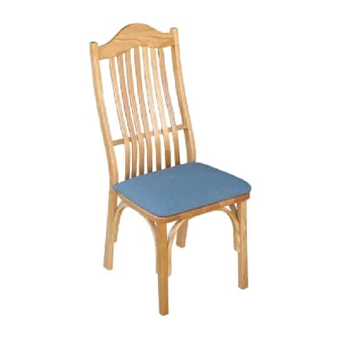 upholstered amish formal side chair