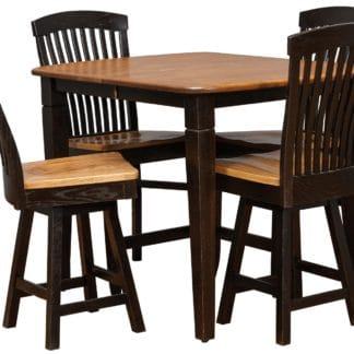 CL5 Counter Height Table in Seely and Cole on Oak with Empire Chairs