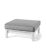 This talented table also doubles as an ottoman (just add a cushion). Just the right height for conversation and relaxation.  - 33w x 33d x 10h - Hidden Fasteners