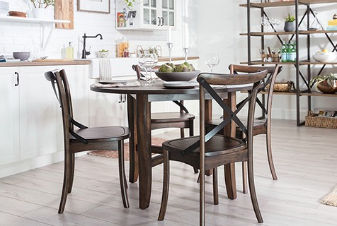 farmhouse furniture at barstools and dinettes